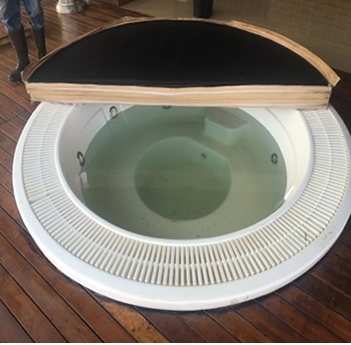 Gemini Flush Deck Jacuzzi with Cover